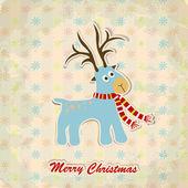 Christmas greeting card, vector — Stock Vector