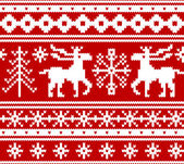 Seamless knitted christmas pattern, vector — Stock Vector