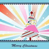 Vorlage weihnachten grußkarte, vektor — Stockvektor