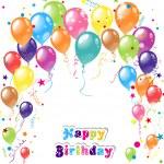 Color beautiful party balloons, vector — Stock Vector #38707147