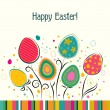 Template Easter greeting card, vector — Stock Vector #39274655