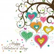 Vector de stock : Template Valentine greeting card, vector
