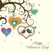 图库矢量图片: Template Valentine greeting card, vector