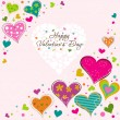 Stock Vector: Template Valentine greeting card, vector