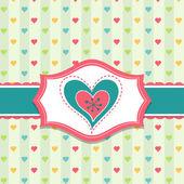 Modello cartolina di san valentino, vettoriale — Vettoriale Stock