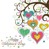 Template Valentine greeting card, vector — Vettoriale Stock