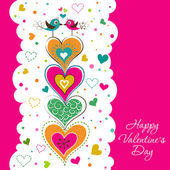 Template Valentine greeting card, vector — Stock Vector