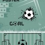 Template soccer poster, vector — Stock Vector