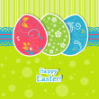 Template Easter greeting card, vector — Stock Vector #42482453