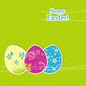 Template Easter greeting card, vector — Vecteur