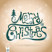 Template Christmas greeting card, vector — Stock Photo