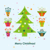 Template Christmas greeting card, vector  — Stock Vector