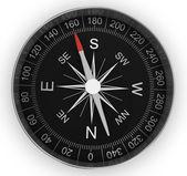 Compass chrome on white background — Stock Photo
