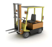 A forklift truck isolated on white background — Stock Photo