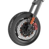 Black sports wheel on a white background — Stock Photo