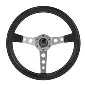 Render of steering wheel isolated — Stock Photo