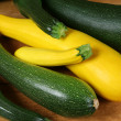 Green and yellow zucchini - Stock Photo