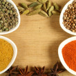 Spices frame - Foto Stock