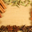 Stock Photo: Spices frame