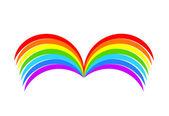 Rainbow book — Stock Vector