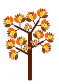 Autumn tree illustration — Stock Vector