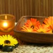 Marigold in bowl — Stock Photo