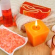 Spa tools in orange — Stock Photo