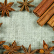 Frame of anise — Stock Photo