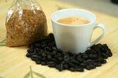 Káva a cukr — Stock fotografie