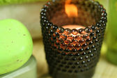Tealight holder in spa — Stock Photo