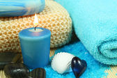 Spa and wellness in blue — Stock Photo