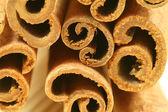 Macro - cinnamon sticks — Stock Photo