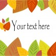 Royalty-Free Stock Vector Image: Colorful autumn leaf frame