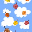 Cloudy autumn sky — Stock Vector