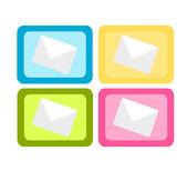 Färgglada post ikoner — Stockvektor