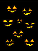 Linternas de halloween — Vector de stock