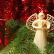 Christmas praying angel — Stock Photo