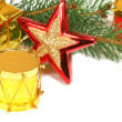 Christmas decoration with place for greetings text — Stock Photo