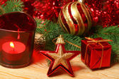 Christmas in red color — Stock Photo