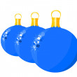 Blue glass balls - Stock Vector