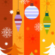 Stock Vector: Colorful Christmas card