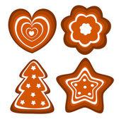Gingerbread cookies vector — Stock Vector