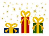 Boże narodzenie prezenty — Wektor stockowy