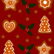 Gingerbread holiday background - Stock Vector