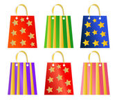 Christmas bags collection — Stock Vector
