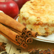 Apple pie with spices - Stock Photo