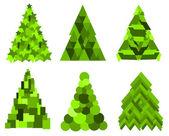 Bomen kerstcollecte — Stockvector