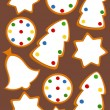 Stock Vector: Gingerbread background