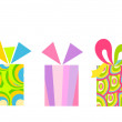Colorful presents — Stock Vector