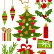 Christmas icons collection — Stock Vector